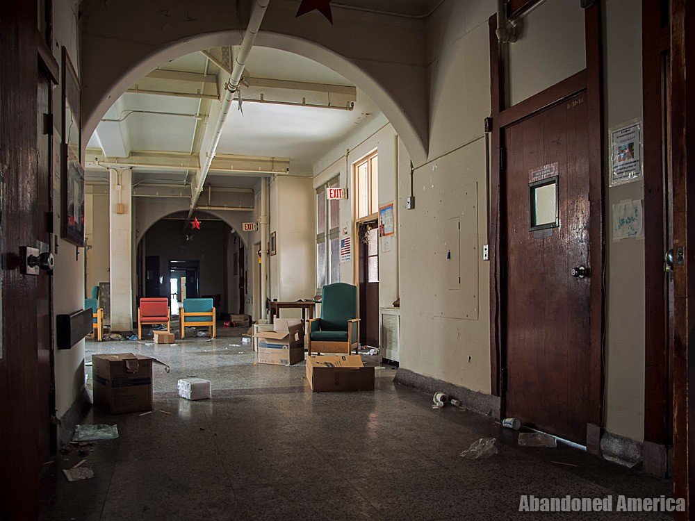 Overbrook Asylum (Cedar Grove, NJ)   Cluttered Hallway - The Essex County Hospital Center