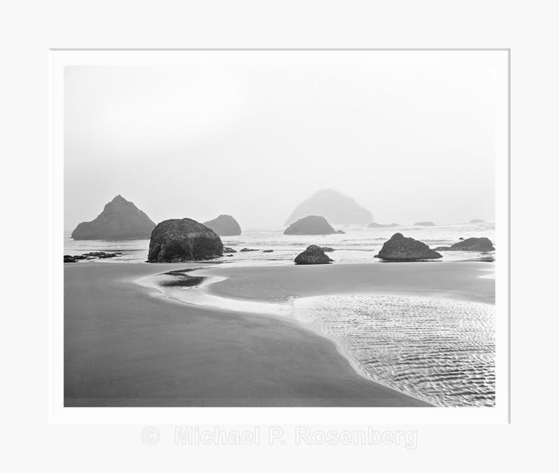 Receding Sea Stacks, Bandon Beach OR (5768) - Pacific Coast