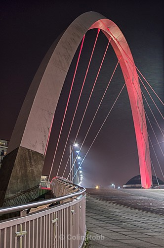 Clyde Arc | Squinty Bridge | Glasgow | photograph by Colin Robb