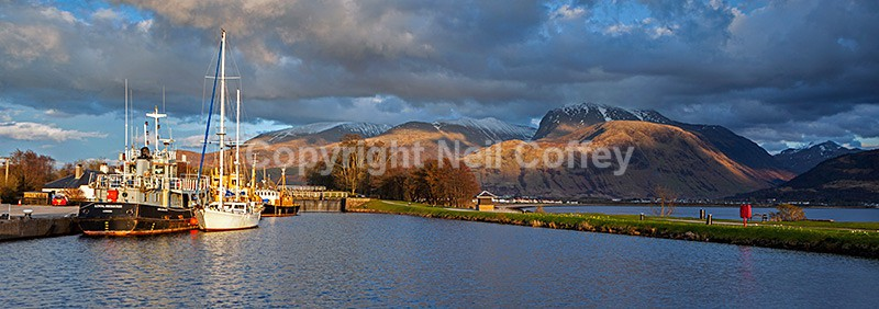 Ben Nevis and The Caledonian Canal, Corpach, Highland4 - Panoramic format