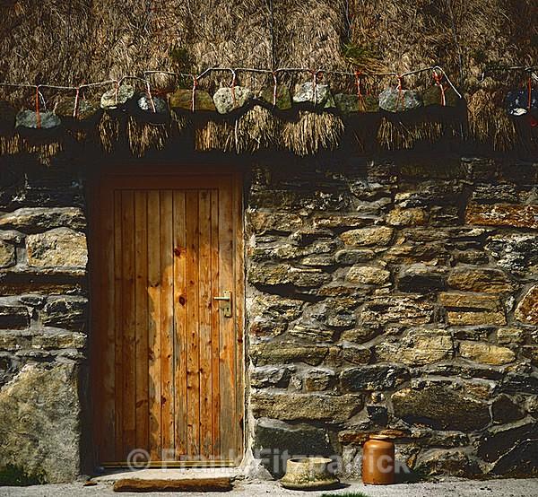 Croft house door detail, Isle of Benbecula, Outer Hebrides, Scotland - Benbecula