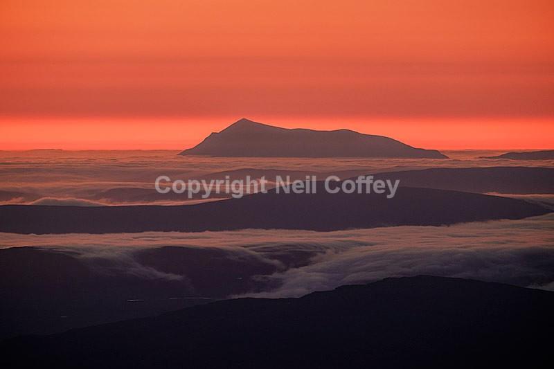 Ben Kilbreck from An Teallach, Highland - Landscape format