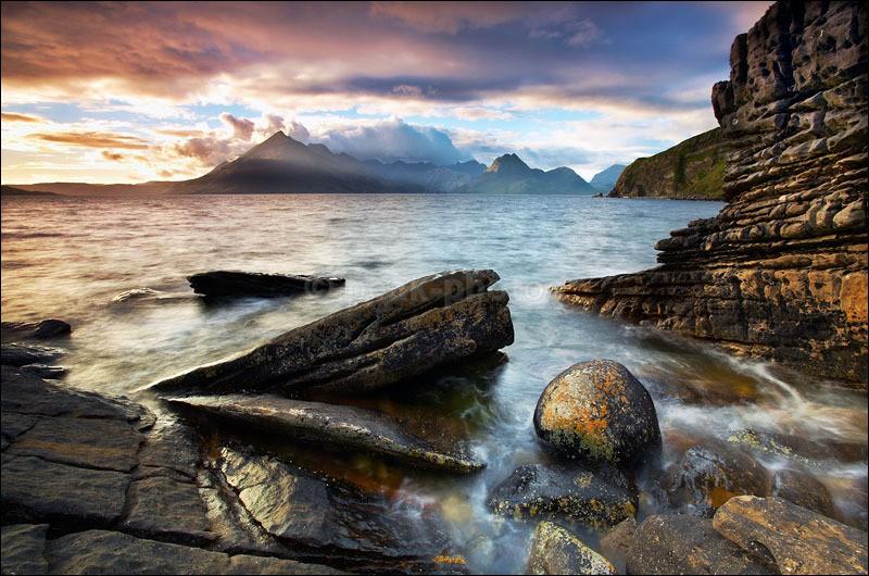 Sunbreak over the Cuillins - Photographs of Scotland