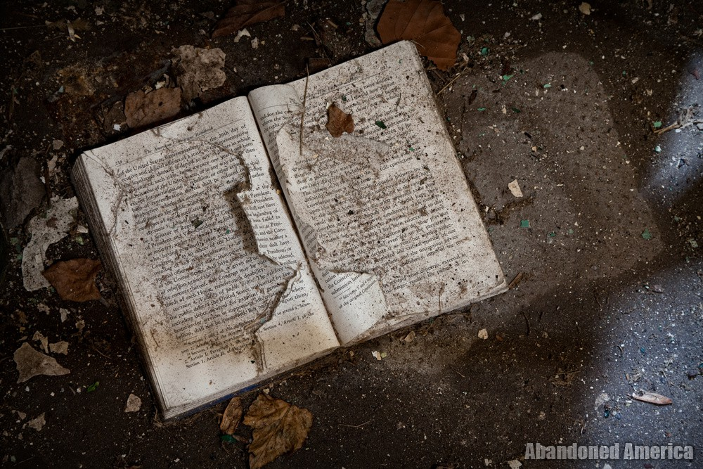 Decayed book, Holmesburg Prison, Philadelphia PA   Abandoned America by Matthew Christopher