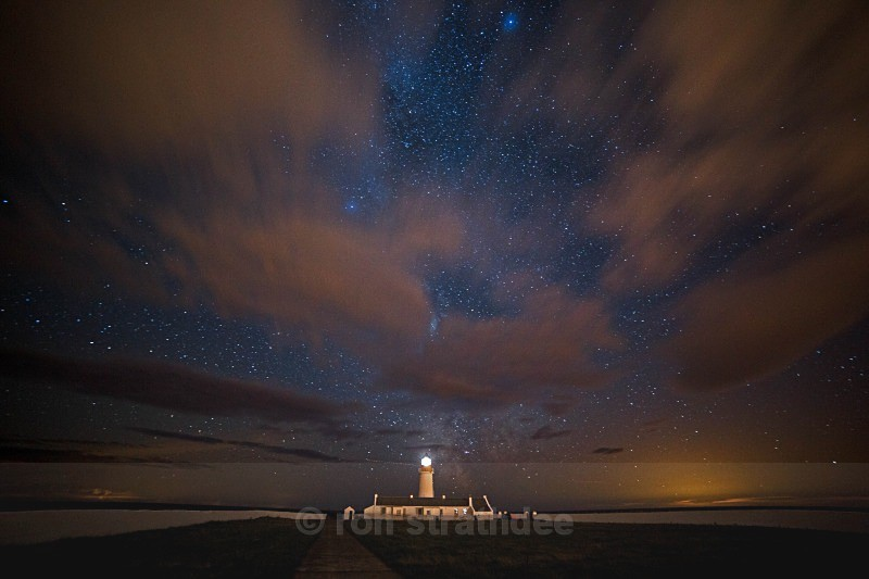 Clouds Racing Over Langness Lighthouse - Skies of Man