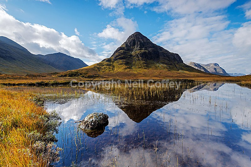 Buachaille Etive Beag & Lochan na Fola, Glen Coe, Highland - Landscape format