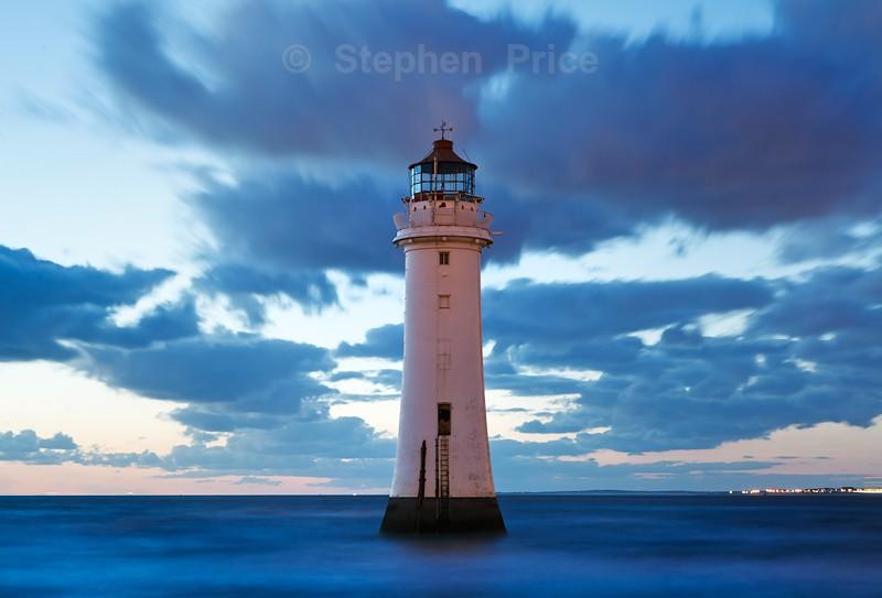 New Brighton Lighthouse at Night   Perch Rock Lighthouse   Merseyside