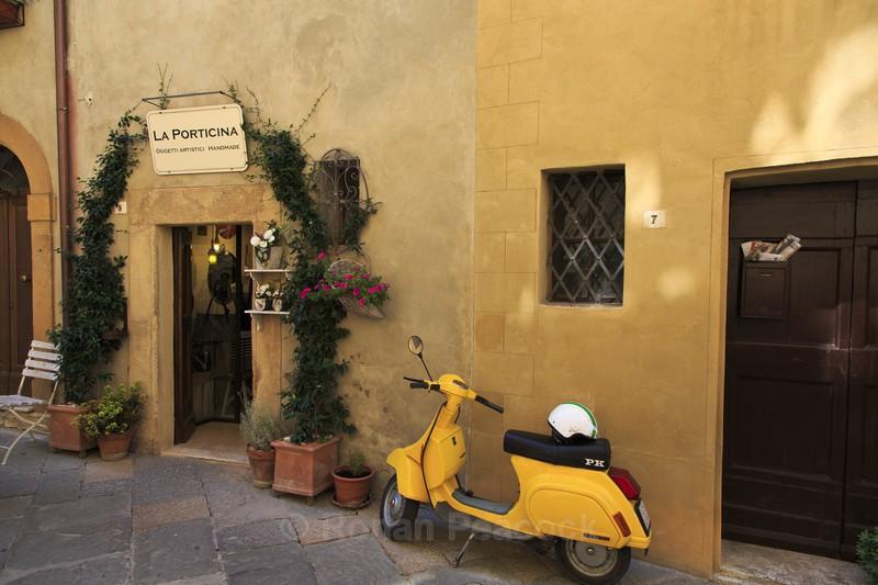 Yellow Vespa - Slovenia and Tuscany