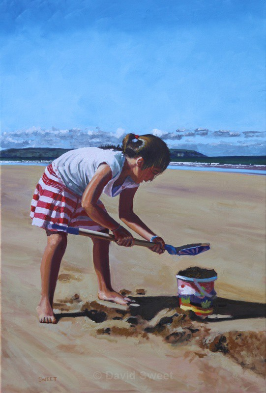 Portstewart Strand Sandcastles - OIL - Oil Paintings