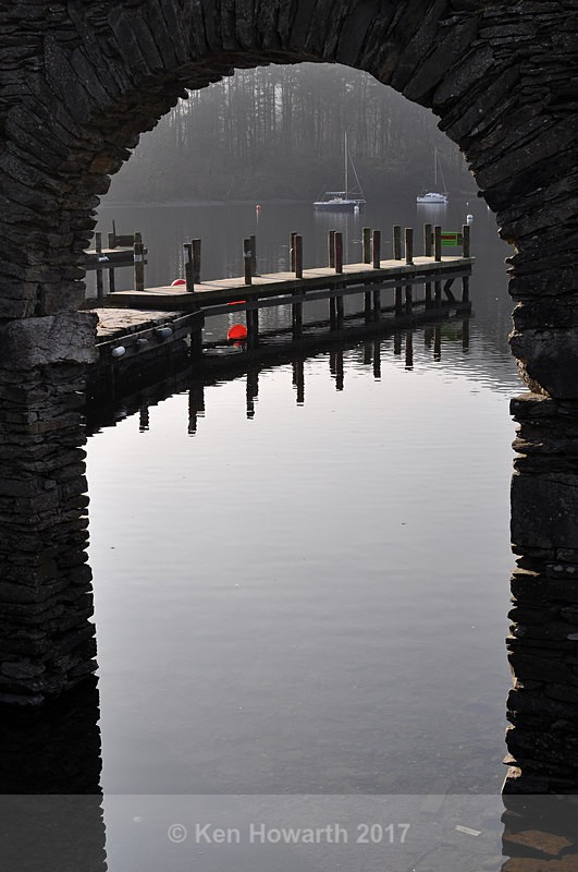 Boat-house reflections, Fell Foot, Windermere - Lake District Curiosities