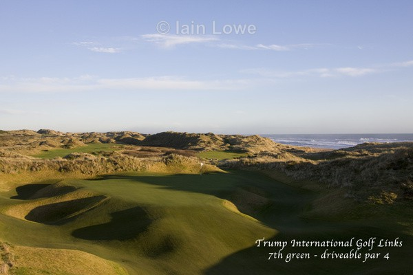Trump International 7th green - Trump International Golf Links Aberdeen