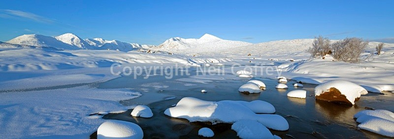 Lochan na Stainge & Black Mount, Rannoch Moor, Highland_1 - Panoramic format