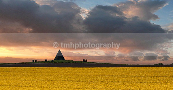 Pyramid and Sky - Yorkshire Countryside