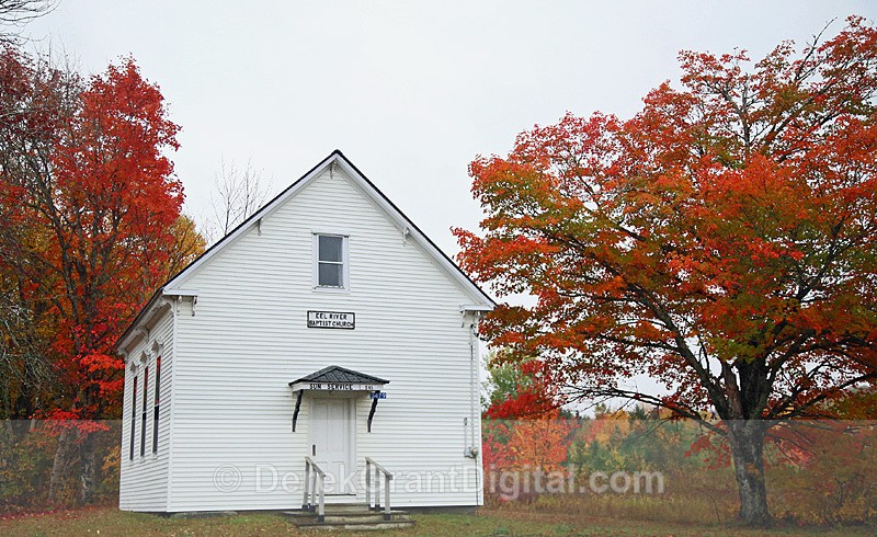 Eel River Baptist Church York County New Brunswick Canada - Churches of New Brunswick