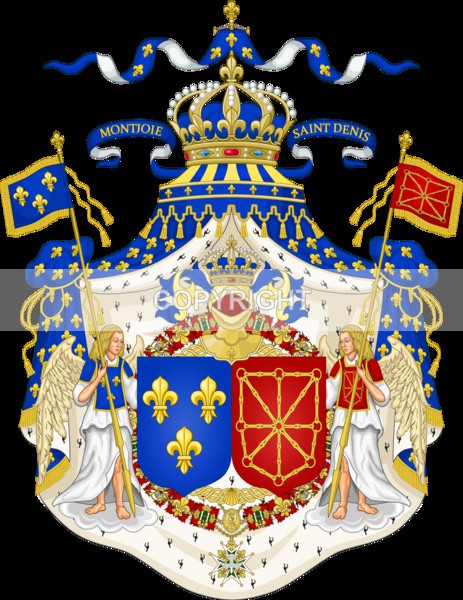 Royal Coat of Arms of France - Heritage Family Name and Coat of Arms Store
