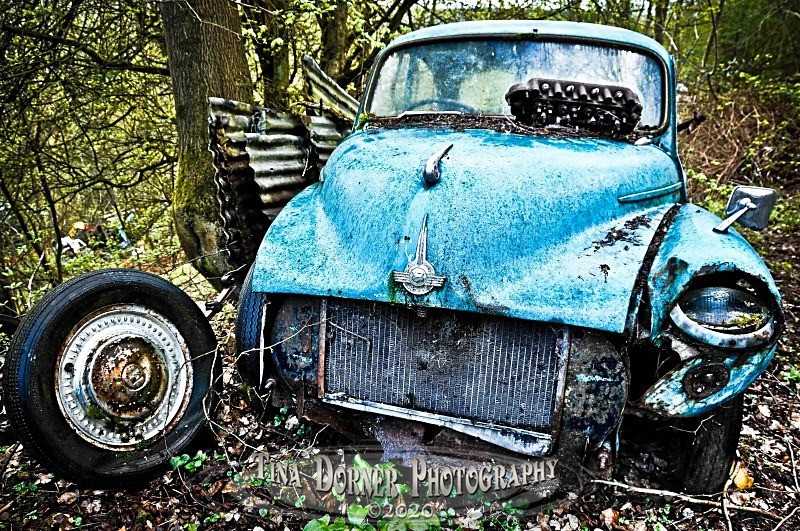 Abandoned Morris Minor by Tina Dorner Photography, Forest of Dean and Wye Valley, Gloucestershire