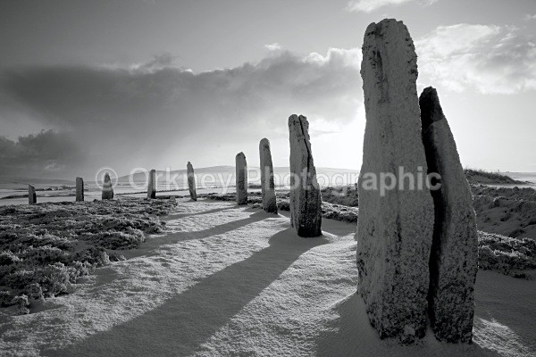 Ring of Brodgar B/W - Orkney Images