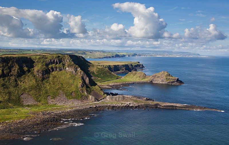 Giants Causeway from Above - Causeway Coastal Route (Landscapes and Nature)