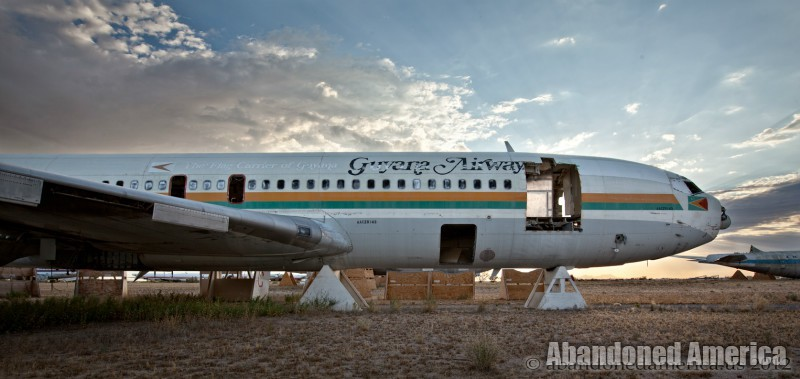 Guyana Airways Boeing 757 at AMARG Aerospace Reclamation and Maintenance Group, Tucson AZ - Matthew Christopher Murray's Abandoned America