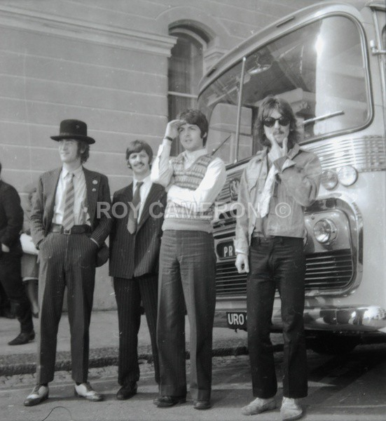 Beatles Full Bus - Rare Beatles pics.