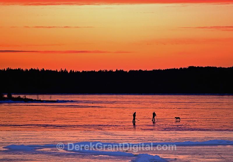 Kennebecasis River Hockey Renforth New Brunswick Canada - Winterscape