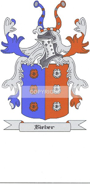 Bieber Family - Heritage Family Name and Coat of Arms Store