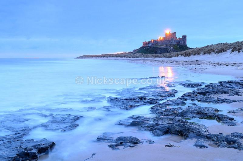 Dawn at Bamburgh Castle - Northumberland Coast UK - Northumberland