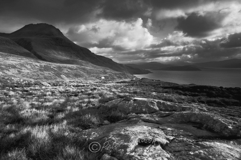 Culnacraig Wester Ross Scotland - Monochrome
