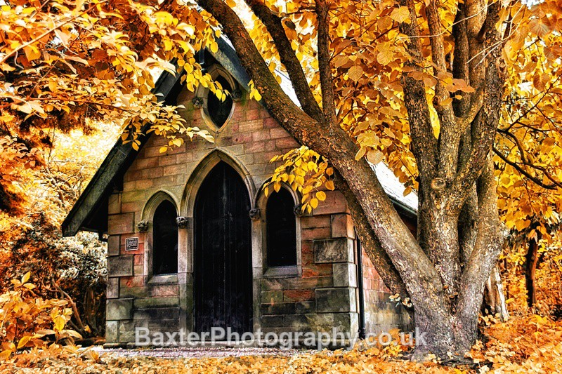 Gothic Magnesia Well In Autumn - The Valley Gardens (Harrogate)