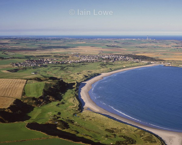 Cruden Bay Course  Town - Scottish Links Aerial Images