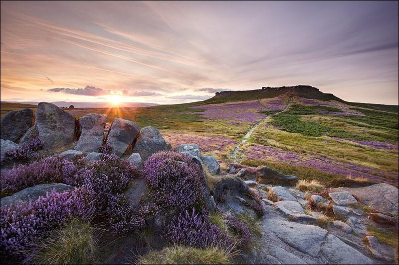 The Fort Wall -  Carl Wark Sunset - Peak District | Dark Peak