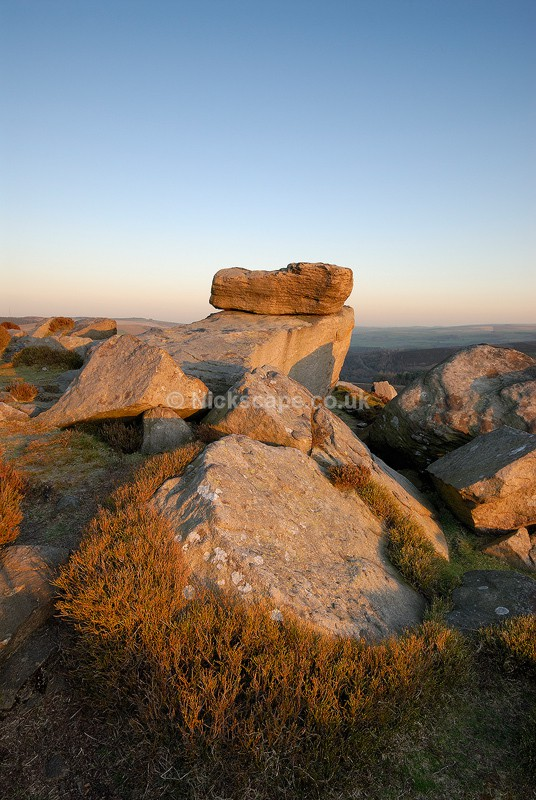 Hurkling Stone Sunset | Gritstone Rock Formations in the Peak District