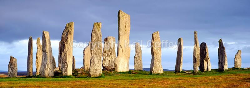 The Callanish standing stones, Isle of Lewis - Panoramic format