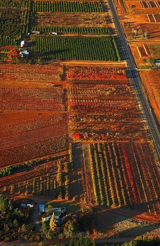 Vines Road V-3858 From a Hot air Balloon. - AERIAL PHOTOS