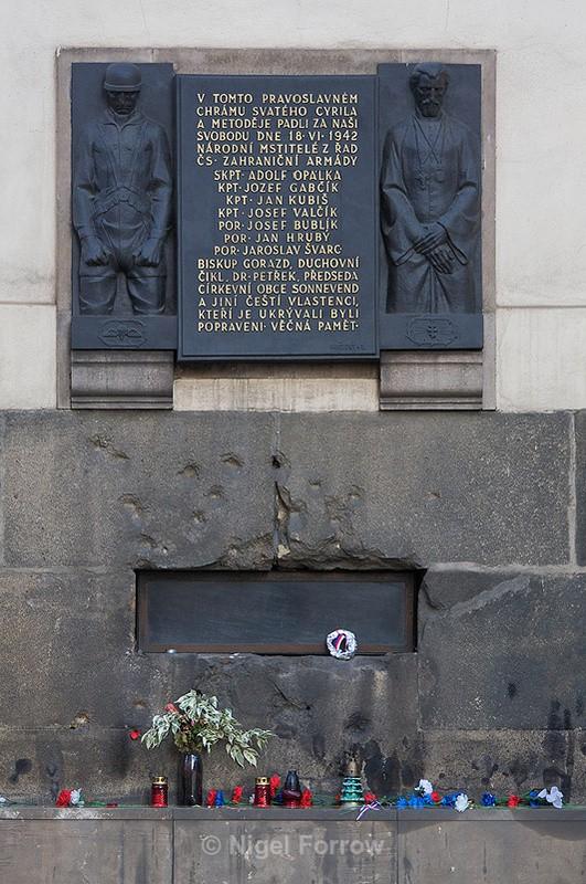 Memorial to the assassins of Reinhard Heydrich - Prague, Czech Republic