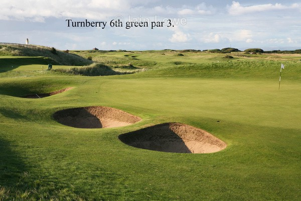 Turnberry 6th Green - Turnberry Ailsa Championship Course