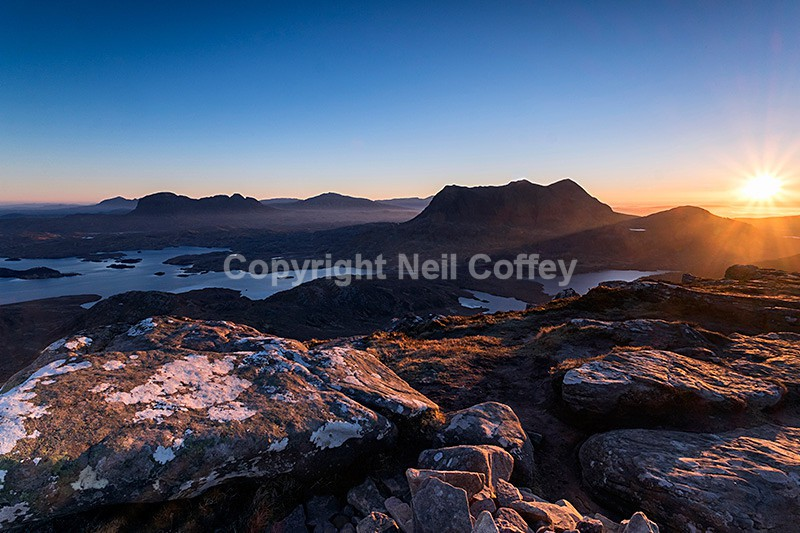 Inverpolly sunrise from Stac Pollaidh, Highland2 - Landscape format