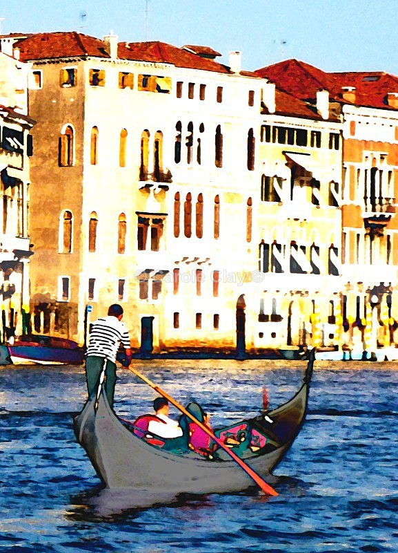 Single Gondola Grand Canal - Venice