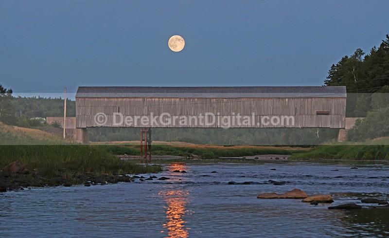 Full Moon along the Hammond - Sunset/Moonrise
