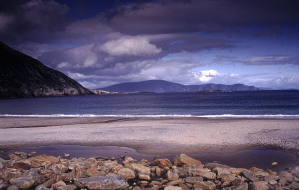 keem beach, achill island, co. mayo.