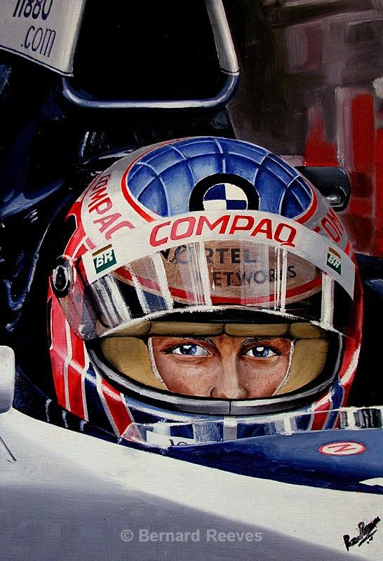 Jenson Button portrait - Formula 1 cars and drivers