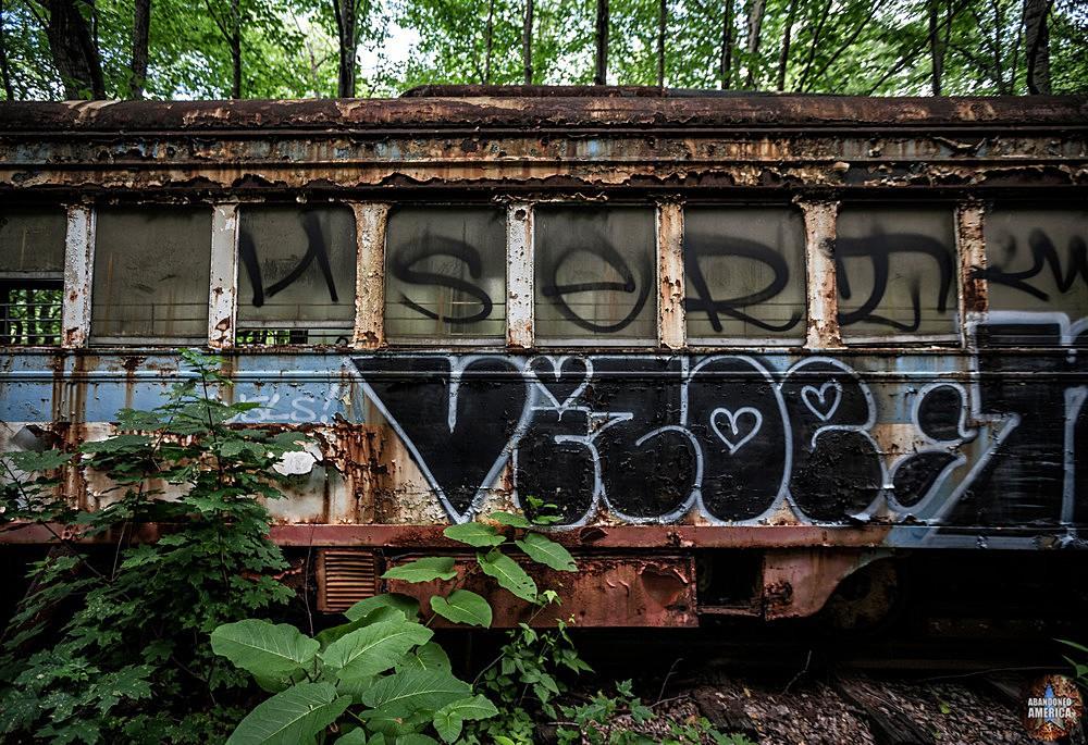 Trolley Graveyard | Vandalized Bicentennial Car - The Trolley Graveyard