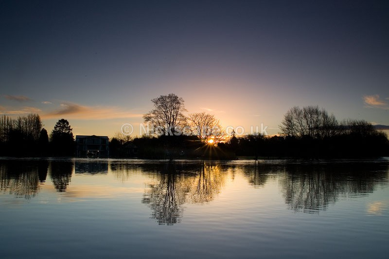 Flood at Warwick Fields on the banks of the River Avon   Stratford upon Avon Landscape Photography