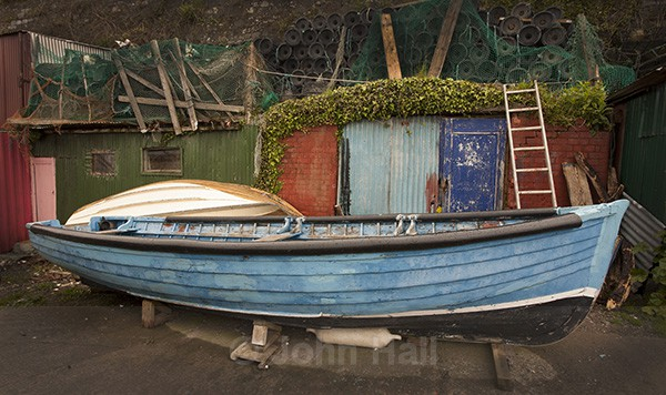 Boat and shed, The Holy Ground, Cobh, Co. Cork, Ireland.