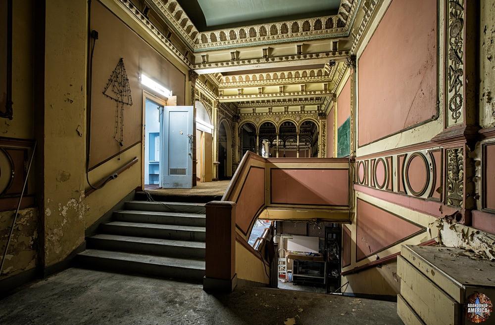 Mezzanine Stairway at The Westlake Theatre, Los Angeles, CA | Abandoned America
