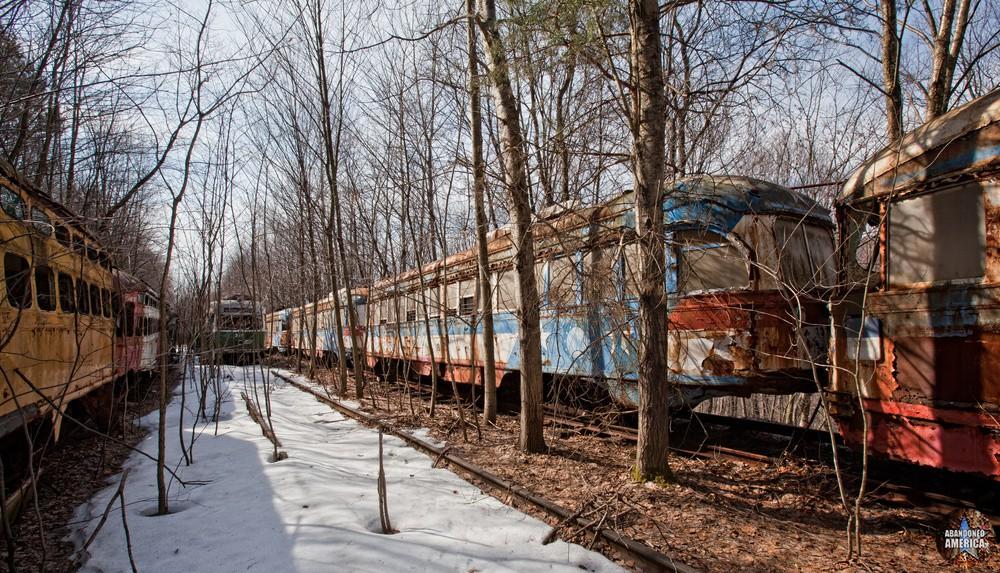 Trolley Graveyard | Philadelphia Bicentennial Cars - The Trolley Graveyard