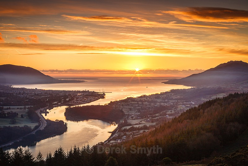 Sunrise Over Carlingford Lough from the Flagstaff Viewpoint