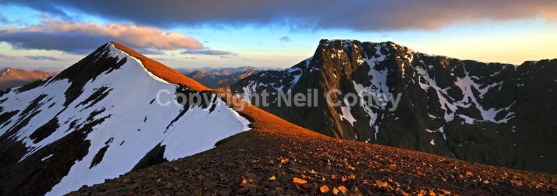 Carn Mor Dearg & Ben Nevis, Highland - Panoramic format
