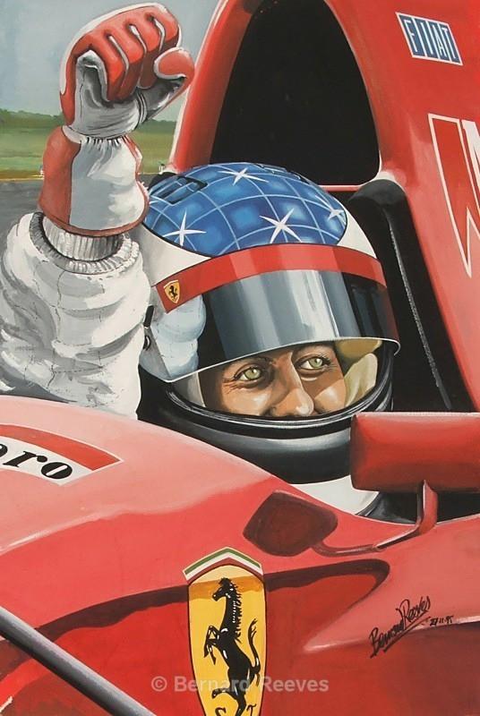 Michael Schumacker testing for Ferrari - Formula 1 cars and drivers