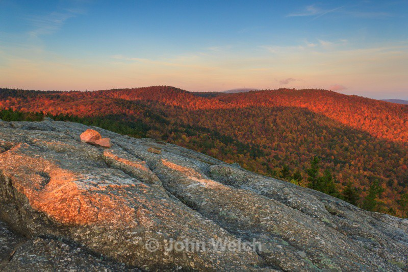 Magenta Morning on Mt. Major - Fall Foliage Season Transitions